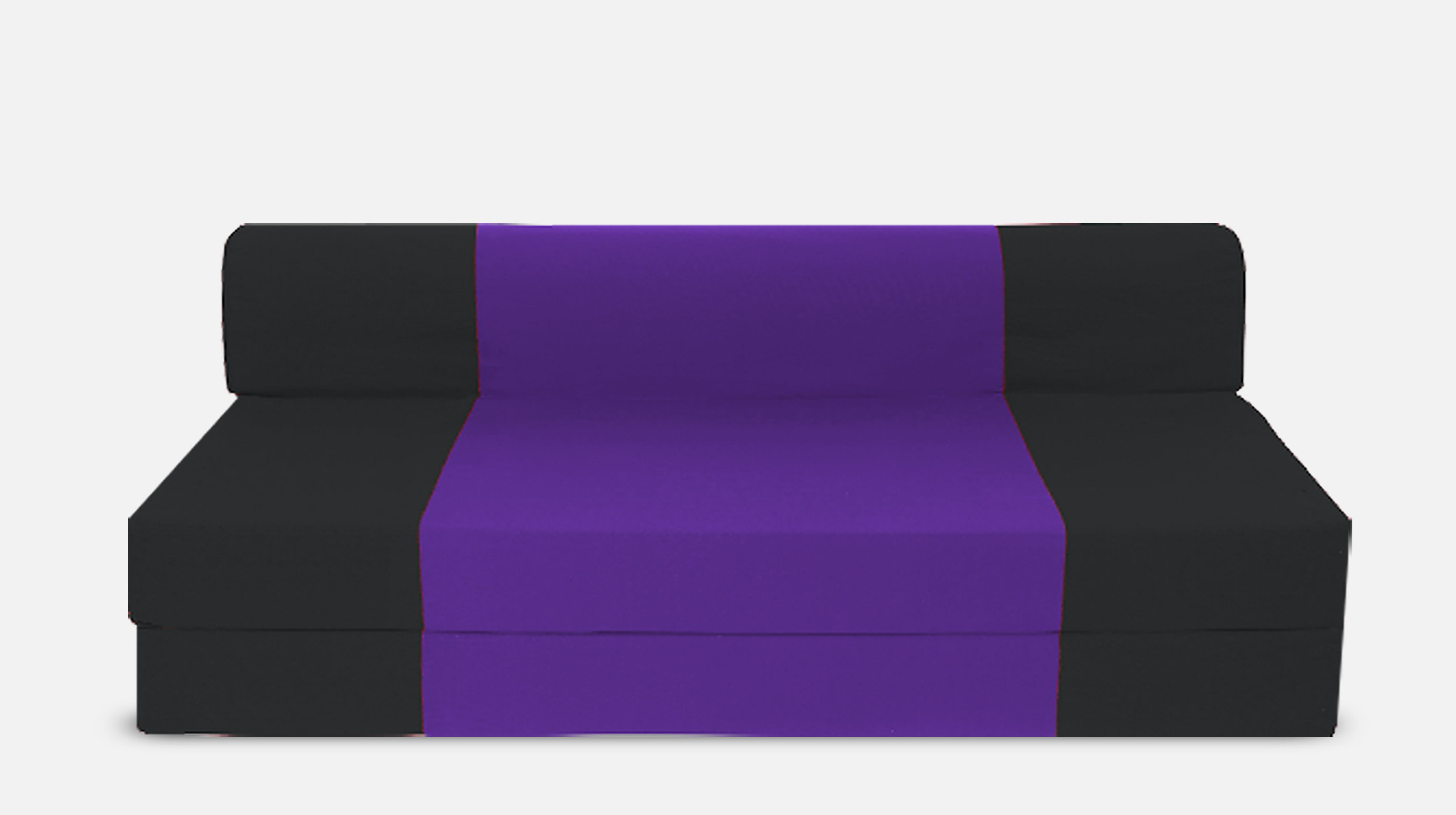 View Dolphin Bean Bags Double Fabric Sofa Bed(Finish Color - Black And Purple Mechanism Type - Fold Out) Furniture (Dolphin Bean Bags)