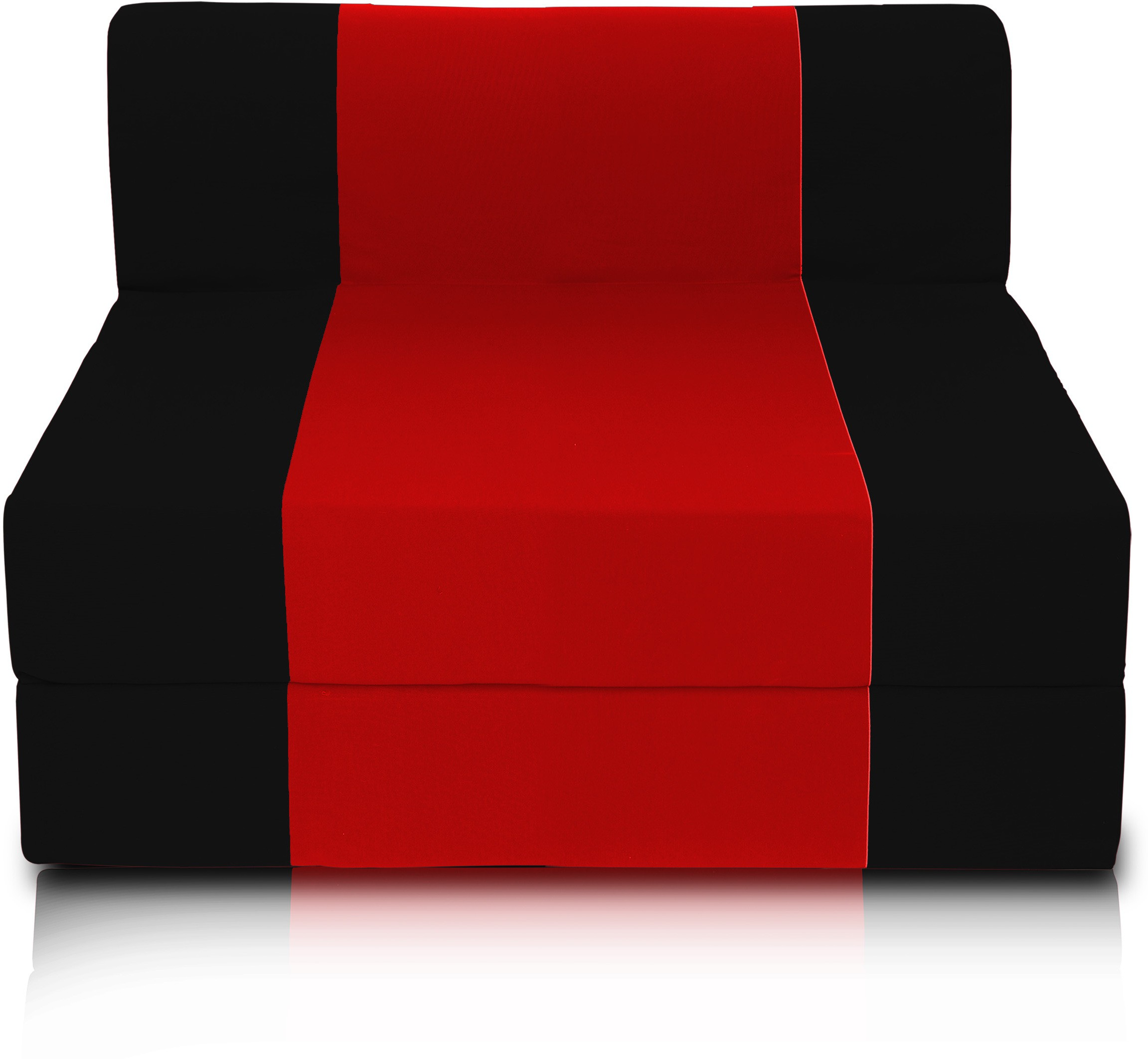 View Dolphin Bean Bags Single Fabric Sofa Bed(Finish Color - Black And Red Mechanism Type - Fold Out) Furniture (Dolphin Bean Bags)
