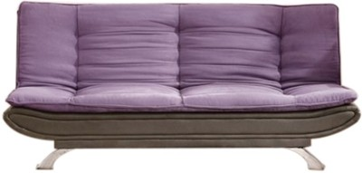 FabHomeDecor Fabric Double Sofa Bed(Finish Color - Purple-- Grey Mechanism Type - Pull Out)