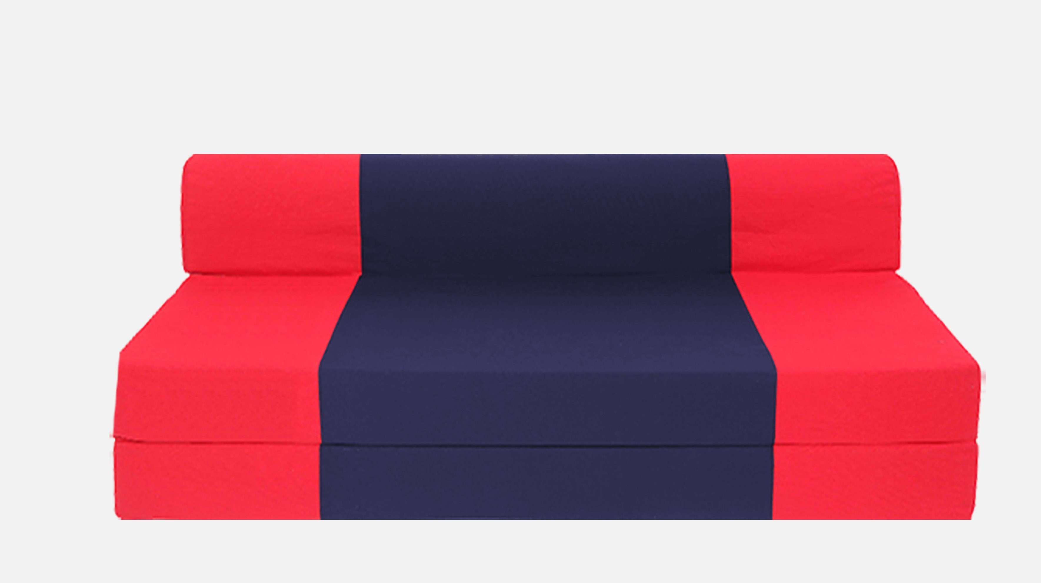 Dolphin Bean Bags Single Fabric Sofa Bed(Finish Color - Red And N.Blue Mechanism Type - Fold Out)