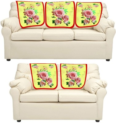 meSleep Floral Leatherite Sofa Fabric(Beige 0.65 m)