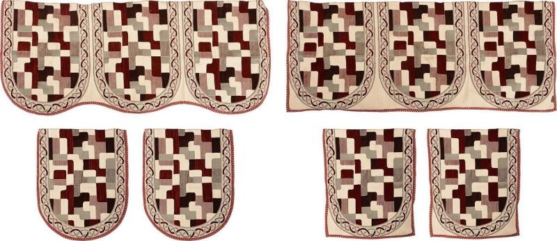SurprizeMe SFS0070 Sofa Fabric(Maroon 12 m)