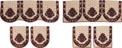 SurprizeMe SFS0072 Sofa Fabric(Maroon, Black 12 m)