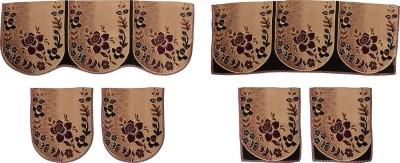 SurprizeMe SFS0068 Sofa Fabric(Purple, Black 12 m)