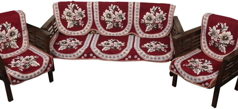 Nitin traders 9871 Sofa Fabric(Cherry Red 1.7 m)