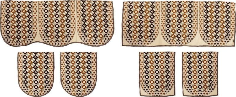 SurprizeMe SFS0071 Sofa Fabric(Brown, Black 12 m)