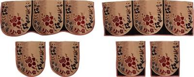 SurprizeMe SFS0068 Sofa Fabric(Maroon, Black 12 m)