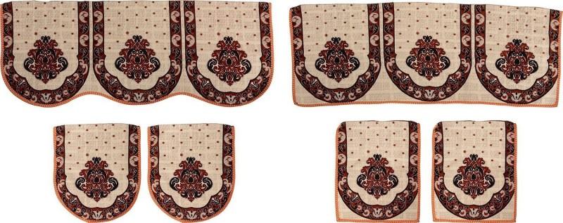 SurprizeMe SFS0072 Sofa Fabric(Orange, Black 12 m)