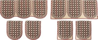 SurprizeMe SFS0071 Sofa Fabric(Maroon, Black 12 m)