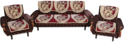LITTLE JOY KSC026 LITTLE JOY COTTON 5 SEATER SOFA COVER Sofa Fabric(Multicolor 27 m)