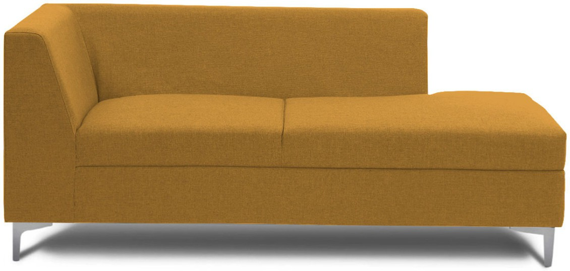 View Stoa Paris Fabric 3 Seater Sectional(Finish Color - Gold) Price Online(Stoa Paris)