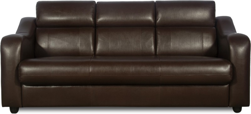 Rej Interio Elite Leather 3 Seater Sofa Finish Color Brown