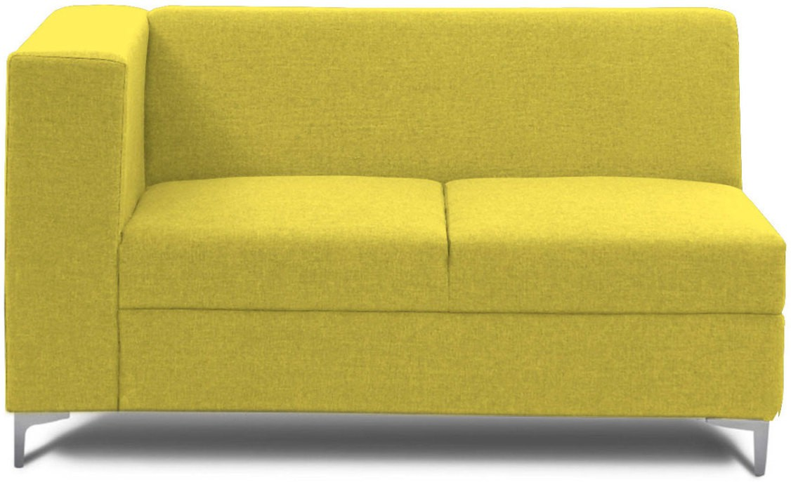 View Stoa Paris Fabric 2 Seater Sectional(Finish Color - Green) Price Online(Stoa Paris)