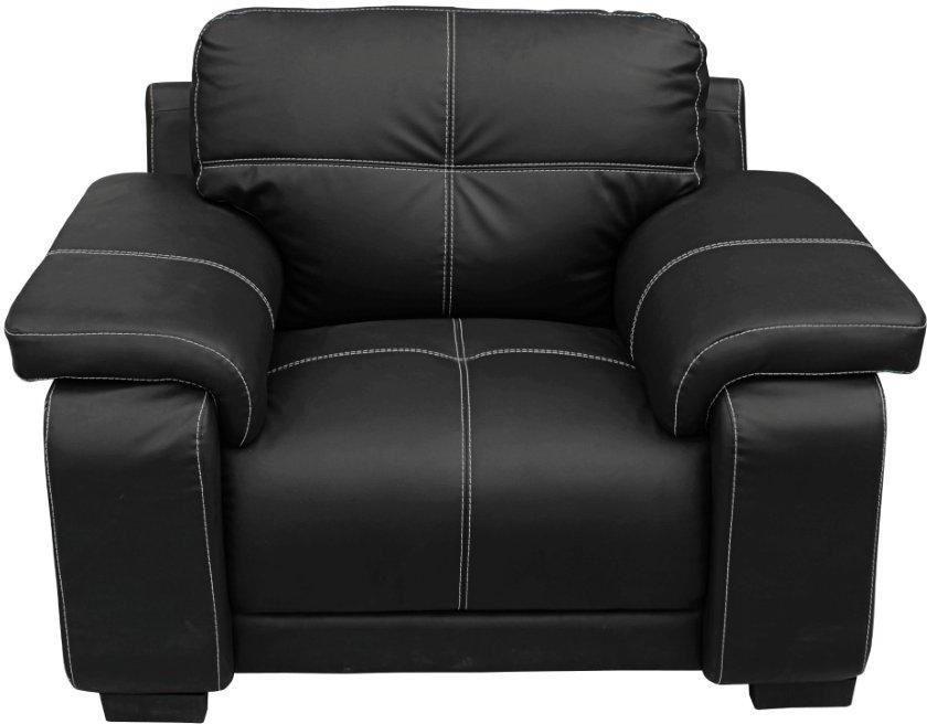 View Home City GLORIA Leatherette 1 Seater Sofa(Finish Color - Black) Price Online(Home City)