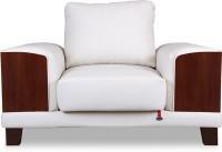 Durian TUCSON/1 Leather 1 Seater Sofa(Finish Color - CREAM)