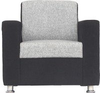 Bharat Lifestyle Tulip 1 Seater Black Grey Color Solid Wood 1 Seater Sofa(Finish Color - Grey)