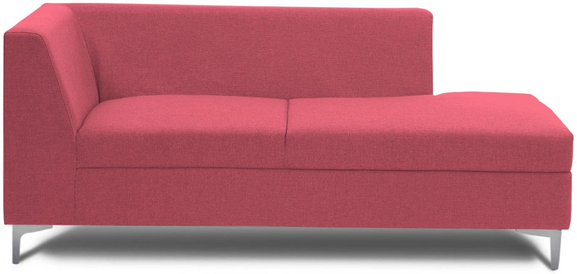 View Stoa Paris Fabric 3 Seater Sectional(Finish Color - Pink) Price Online(Stoa Paris)