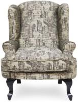 Urban Living Bordeaux Fabric 1 Seater Sofa(Finish Color - black)