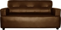 Knight Industry Leatherette 3 Seater Sofa(Finish Color - BROWN)