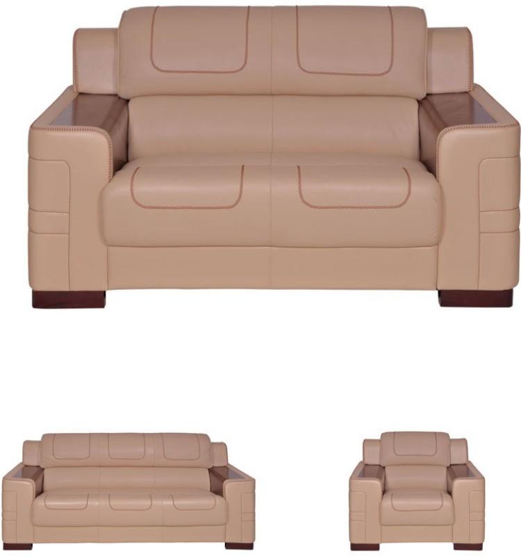 Evok Vienna Leatherette 2 Seater Sofa(Finish Color - Beige)