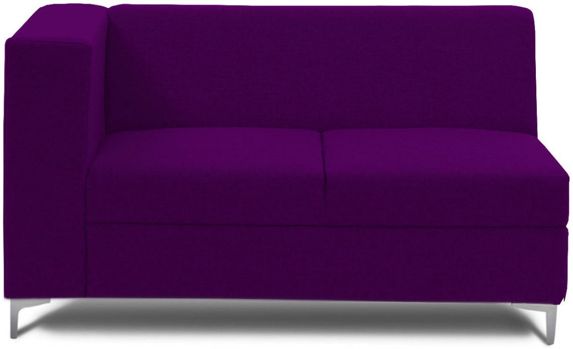 View Stoa Paris Fabric 2 Seater Sectional(Finish Color - Purple) Price Online(Stoa Paris)