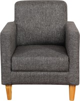 Kurlon Bounce Fabric 1 Seater Sofa(Finish Color - Charcoal grey)