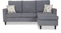 Urban Living ECO LOUNGER Fabric 3 Seater Sofa(Finish Color - Grey)