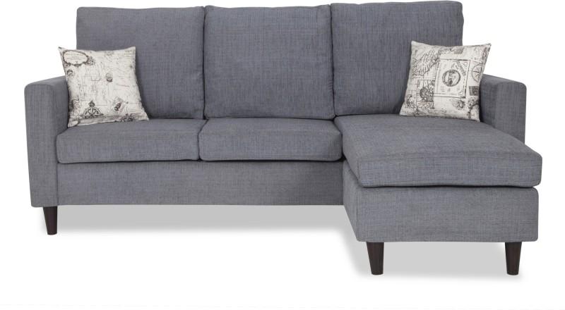 Urban Living ECO LOUNGER Fabric 3 Seater Sofa(Finish Color - Grey)