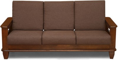 @home by Nilkamal Elena Solid Wood 3 Seater Sofa