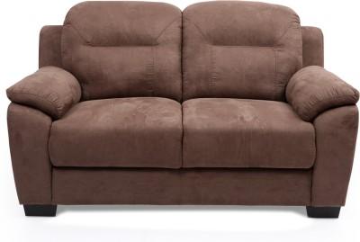 Evok Poland Fabric 2 Seater Sofa(Finish Color - Brown)