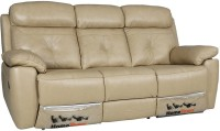 HomeTown Manhattan Half-leather 3 Seater Sectional(Finish Color - Beige)