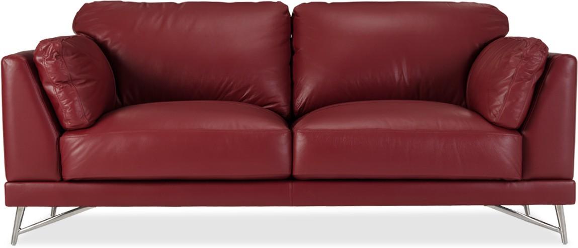 Awe Inspiring Durian Ferris 3 Leather 3 Seater Sofa Finish Color Fire Evergreenethics Interior Chair Design Evergreenethicsorg