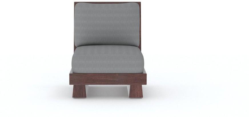 TEZERAC Solid Wood 1 Seater Sofa