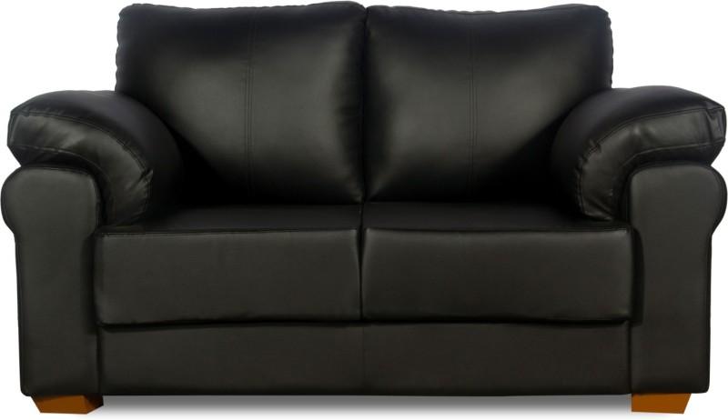 Godrej Interio Milan Plus Leather 2 Seater Sofa(Finish Color - Black)