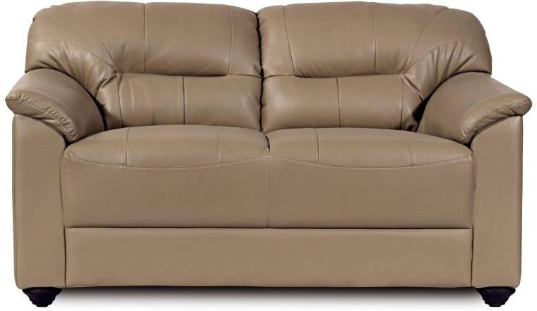 View Home City MIRLY Leatherette 2 Seater Sofa(Finish Color - Beige) Furniture (Home City)