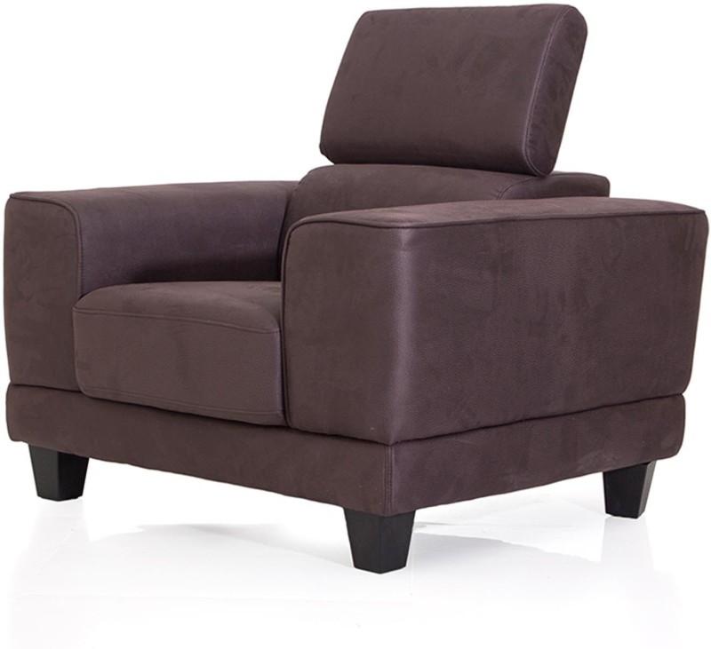 Evok Delite Fabric 1 Seater Sofa(Finish Color - Grey)