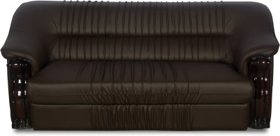 Godrej Interio Leather 3 Seater Sofa Finish Color Brown Available At Flipkart For