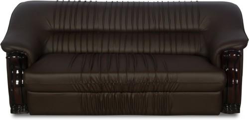 Buy Godrej Interio Dlion Leather 3 Seater Sofa Finish Color Brown