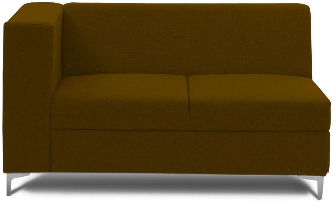 View Stoa Paris Fabric 2 Seater Sectional(Finish Color - Brown) Price Online(Stoa Paris)