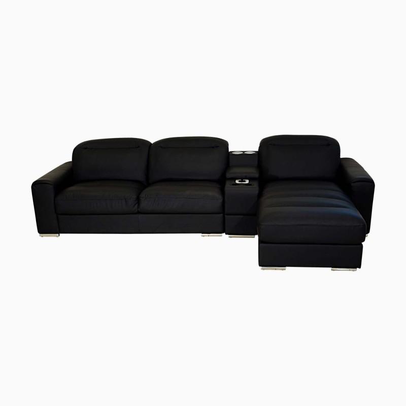 Buy Godrej Interio Acoustica L Shape Blk Sofa Leatherette 3 Seater