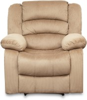 HomeTown Cove Mocha Fabric 1 Seater Sofa(Finish Color - Mocha)