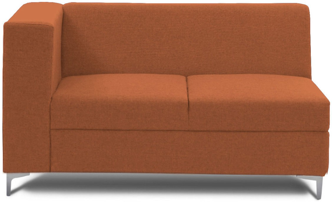 View Stoa Paris Fabric 2 Seater Sectional(Finish Color - Orange) Price Online(Stoa Paris)