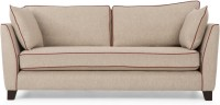 Dream Furniture Solid Wood 2 Seater Sofa(Finish Color - Fawn Beige)