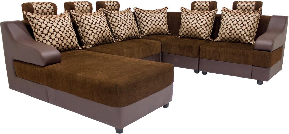 Light beige sectional sofa