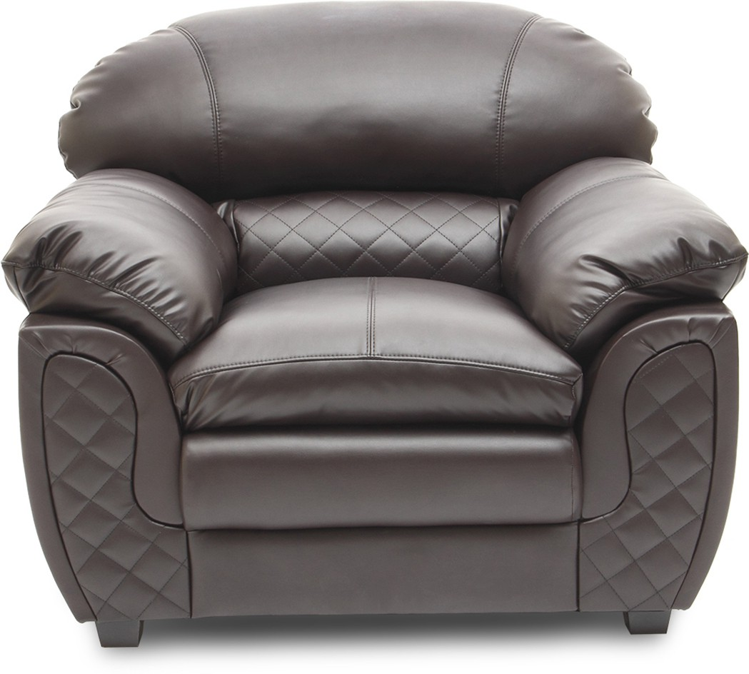HomeTown Mirage_br Leatherette 1 Seater Sofa