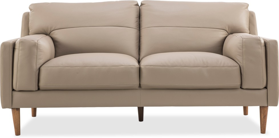 Miraculous Durian Louis 2 Leather 2 Seater Sofa Finish Color Pebble Evergreenethics Interior Chair Design Evergreenethicsorg