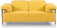 Evok Half-leather 2 Seater Sofa(Finish Color - Yellow)