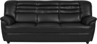 FabHomeDecor Edo Solid Wood 3 Seater Sofa(Finish Color - Black)
