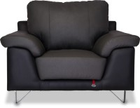 Durian Mesa Leather 1 Seater Sofa(Finish Color - Smoke Grey/Eerie Black)
