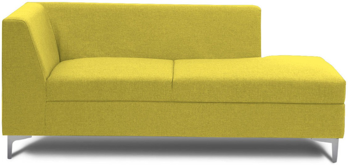 View Stoa Paris Fabric 3 Seater Sectional(Finish Color - Green) Price Online(Stoa Paris)